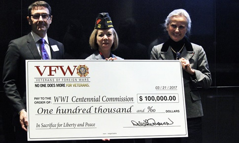 VFW Presents 100000 to WWI Centennial
