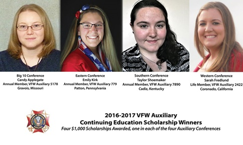 VFW Auxiliary Scholarship Winners