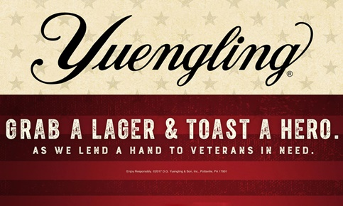 Yuengling Lagers for Heroes