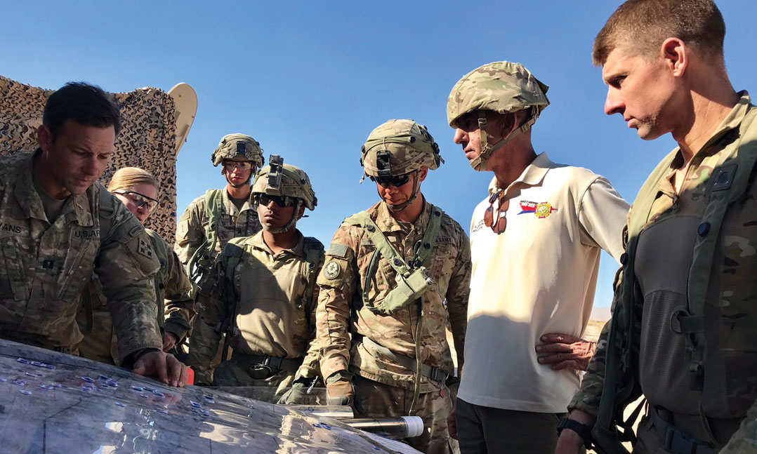 VFW Commander Visits Fort Irwin