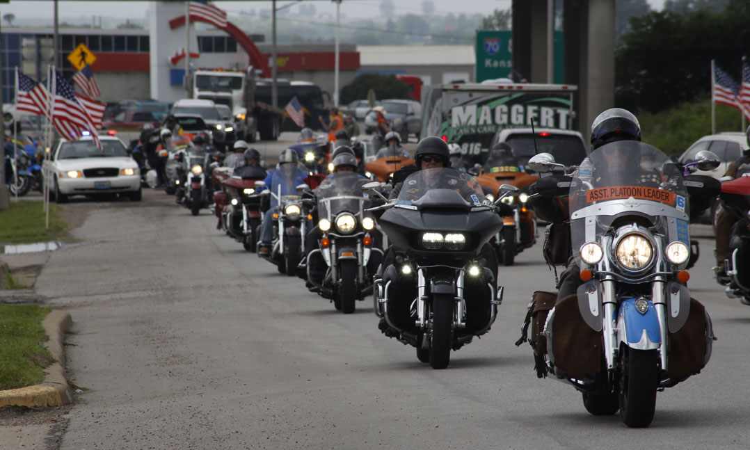 Sturgis Motorcycle Rally Rides Over the Hill   Artful