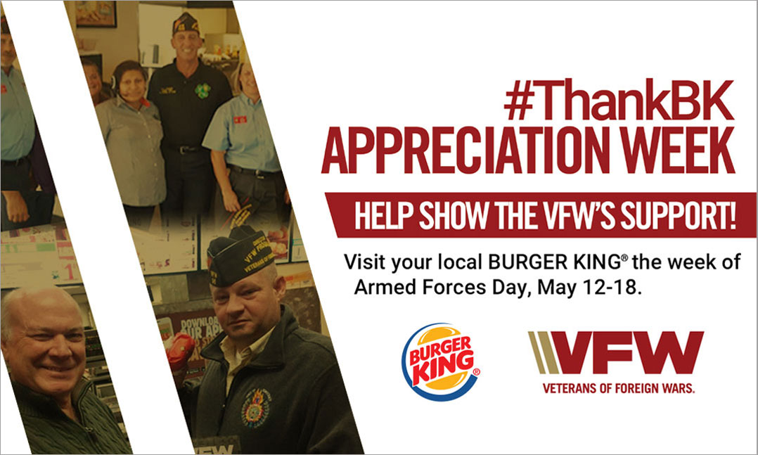 VFW Members to Celebrate #ThankBK Appreciation Week