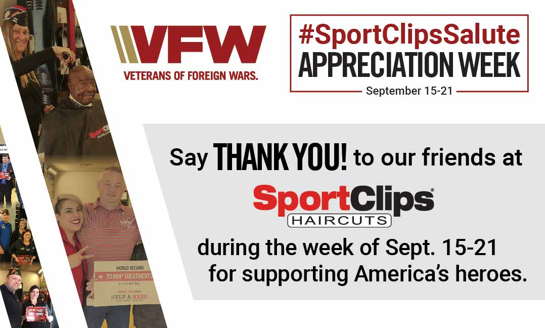 VFW Members Kick Off SportClipsSalute Week