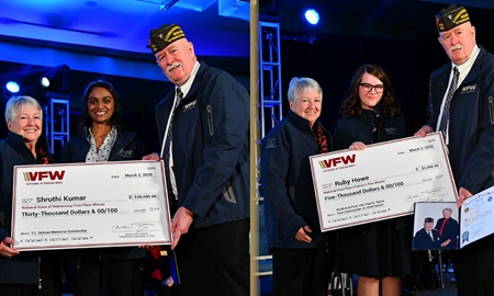 VFW 2020 Voice of Democracy and Patriot's Pen Youth Scholarship winners