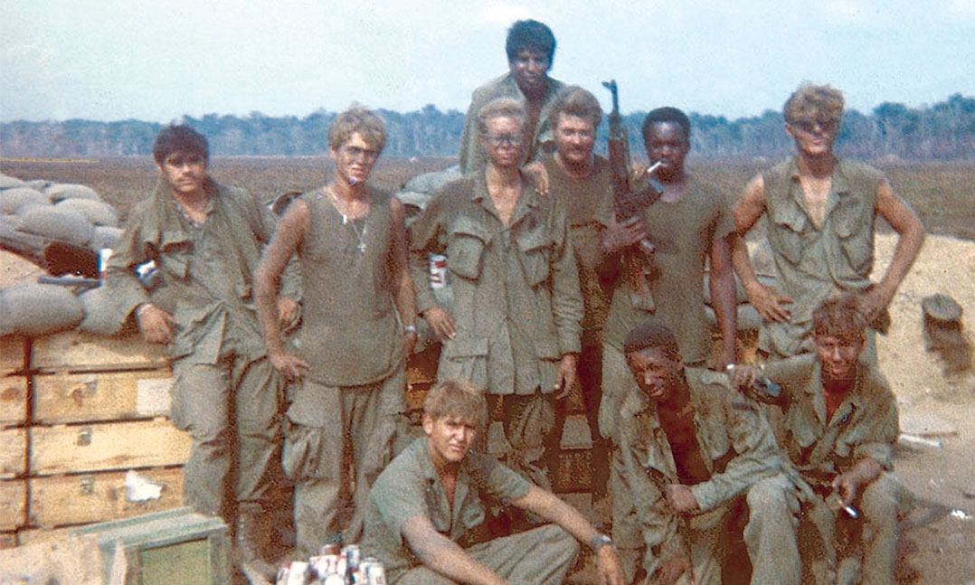 Survivors of an April 1, 1970, attack at a firebase in Vietnam