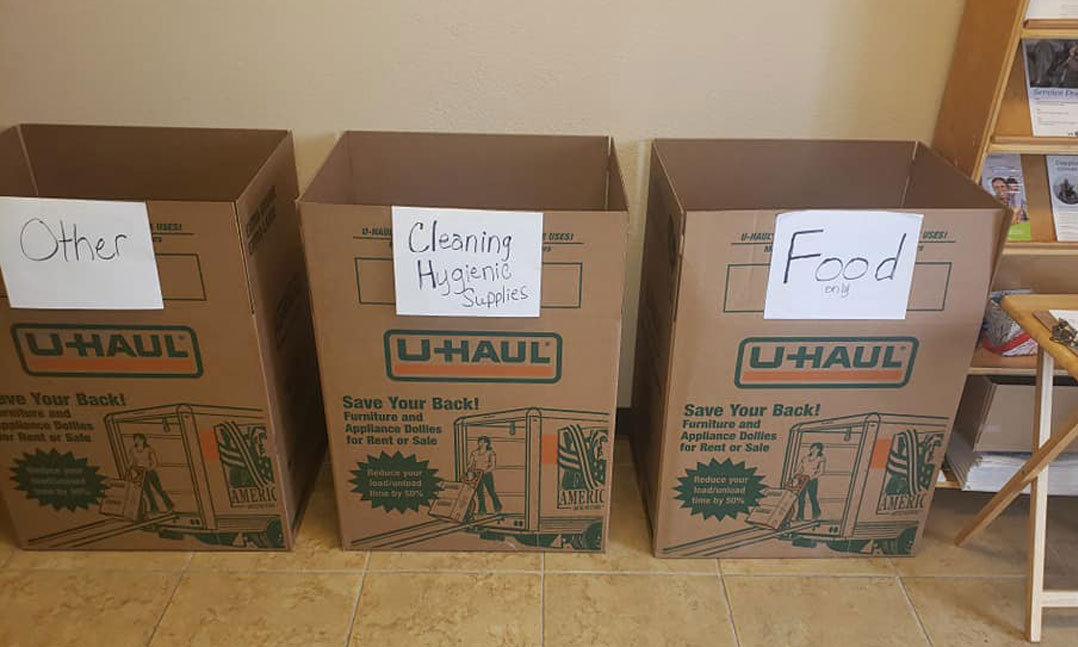 donation boxes for quarantined veterans