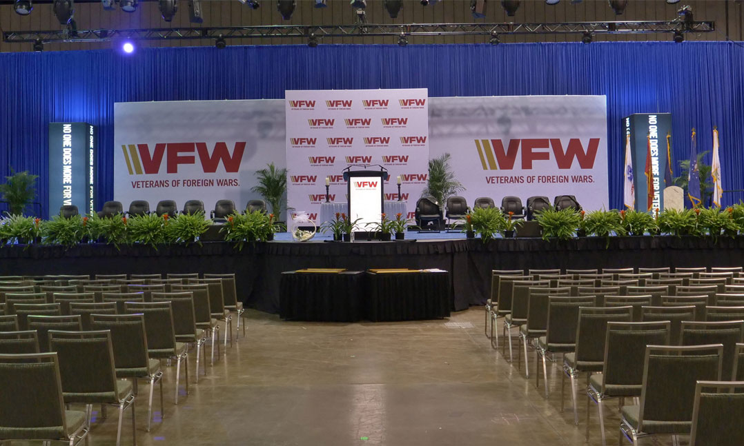 Empty VFW National Convention hall