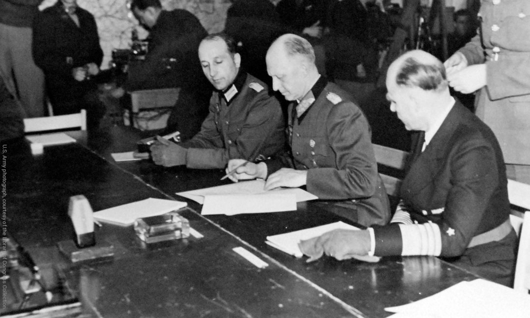 Nazi Germany signs surrender during World War II