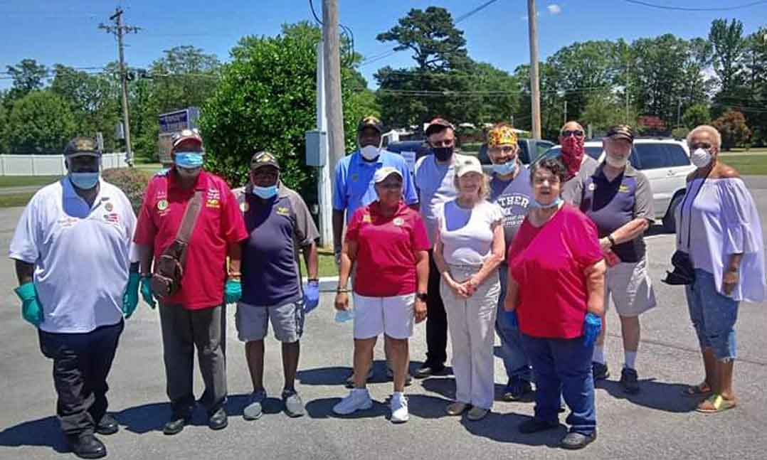 VFW Post members in Maryland come together to support their community during the pandemic