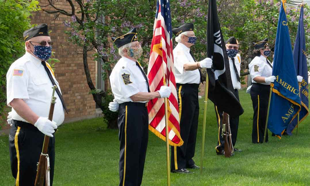 VFW Color Guard during the COVID-19 Pandemic