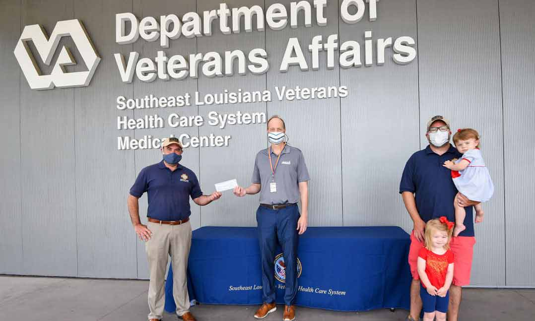 Louisiana VFW members donate to their local VA hospital to combat veteran homelessness