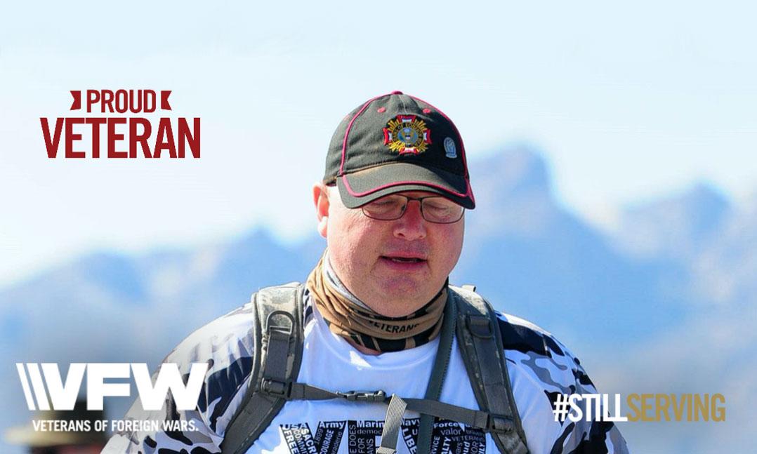 proud veteran who is #stillserving walks to remember other veterans
