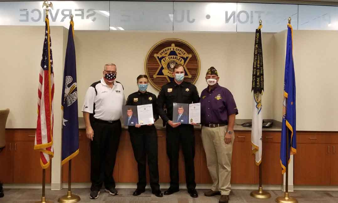 VFW presents to Sheriff's Deputies with awards