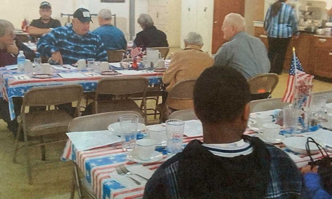 Lunch with veterans program