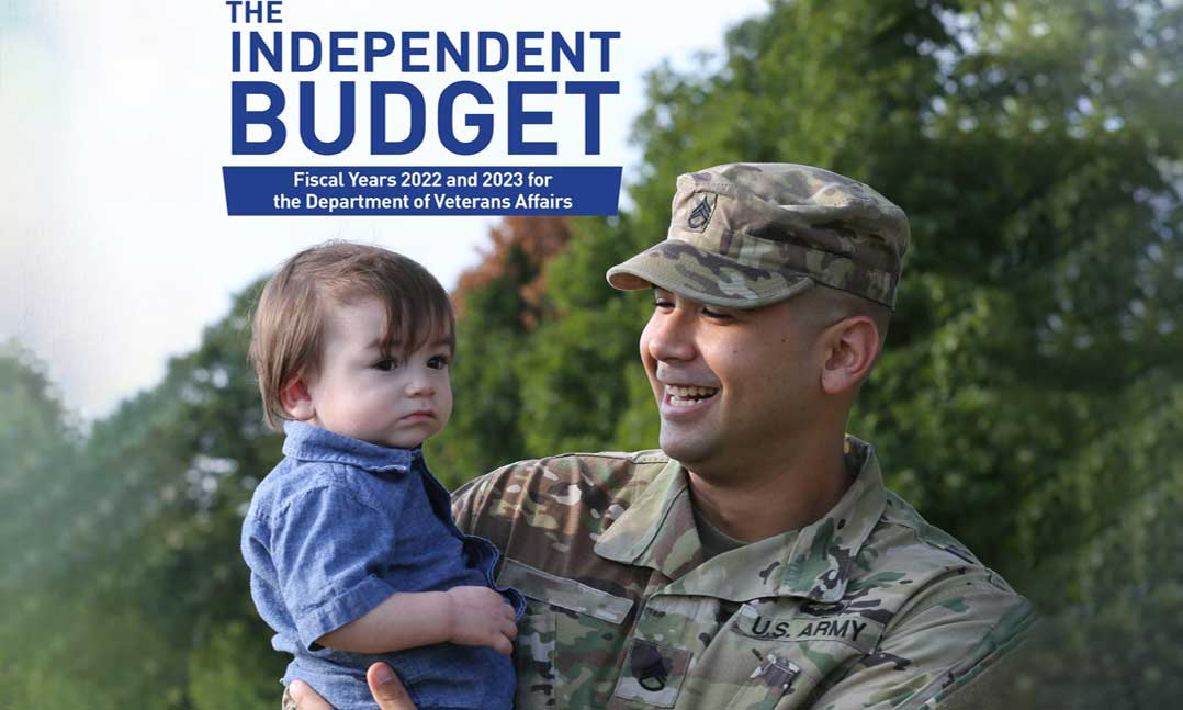 Uniformed solider and his son Independent Budget 2021