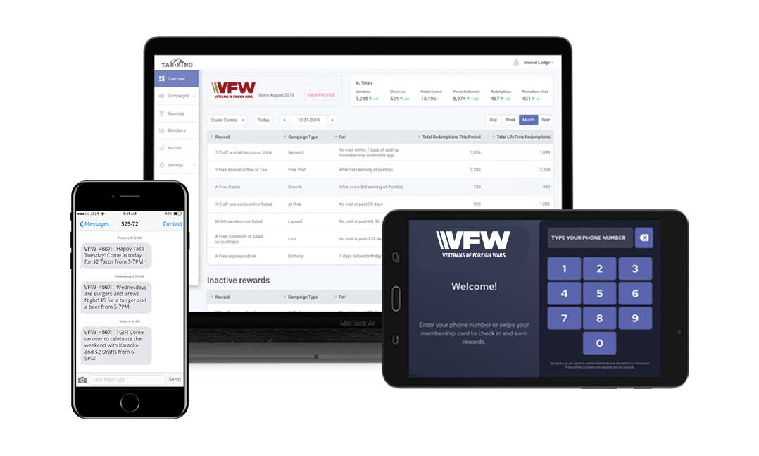 Tab King solutions for VFW Posts