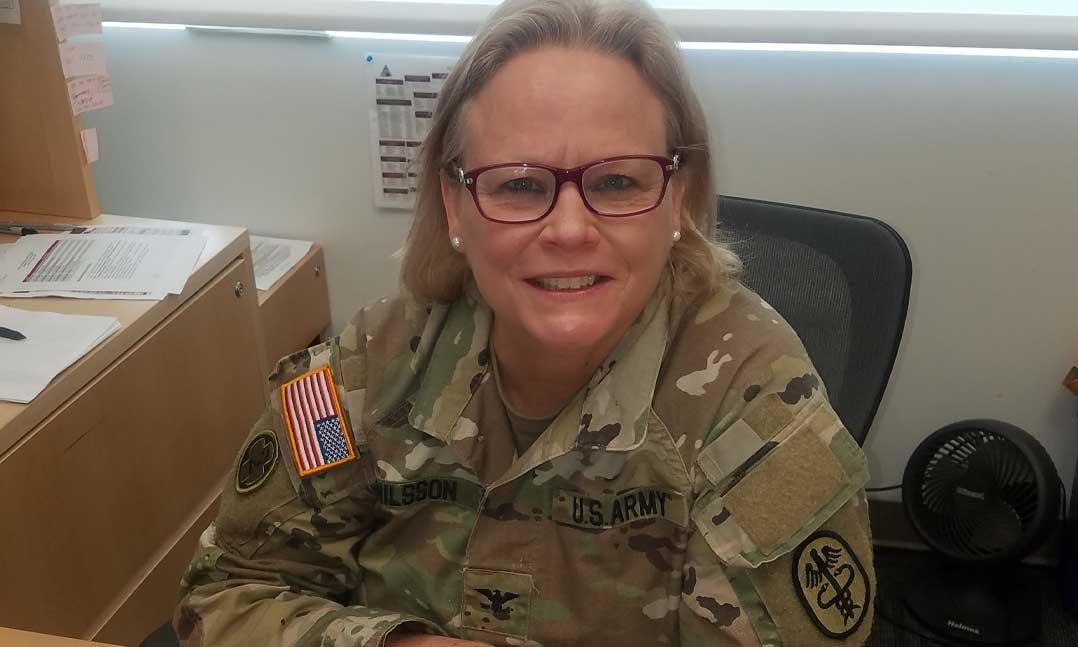 VFW Life member Col. Inger Nilsson