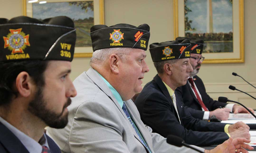 VFW representatives testimony before joint session of Congress