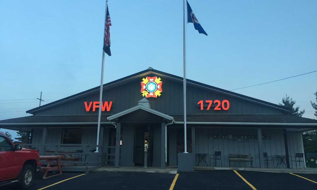 Front of VFW Post 1720's building