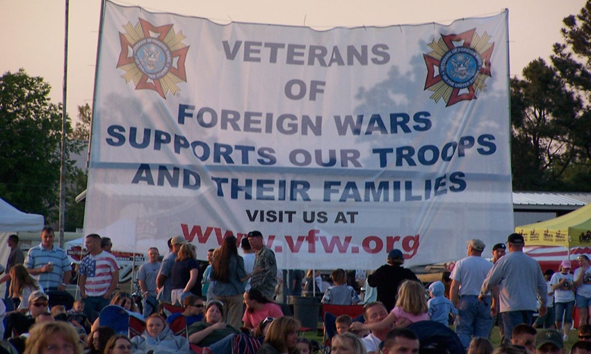 VFW Troop Support Sign
