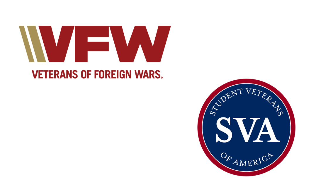 VFW and Student Veterans of America SVA logos