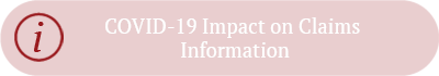 COVID-19 Impact on Claims Information