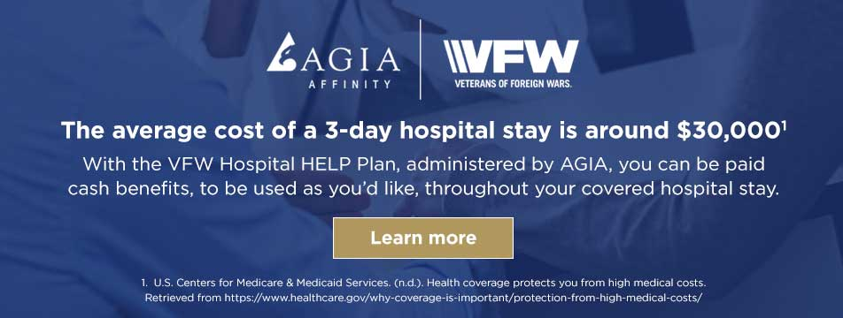 VFW offers members special pricing on hospital HELP plans