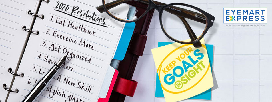 2020 resolutions list with eye care goals