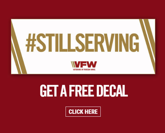 Request your free #StillServing decal from the VFW