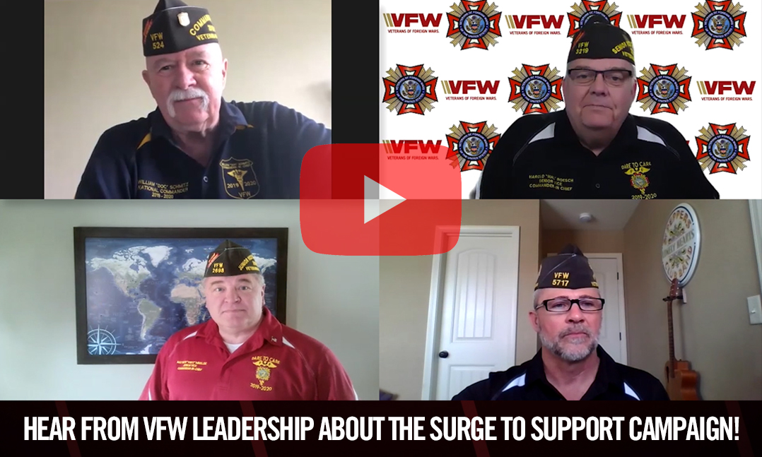 Hear from VFW leadership about the Surge to Support campaign