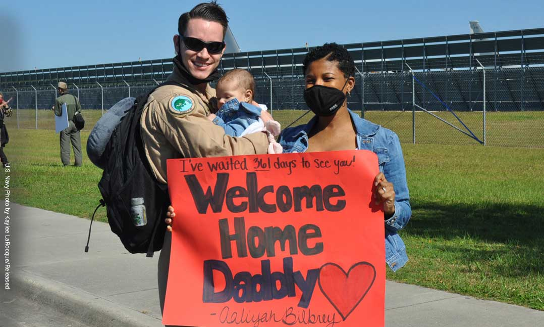 Family welcomes home service member