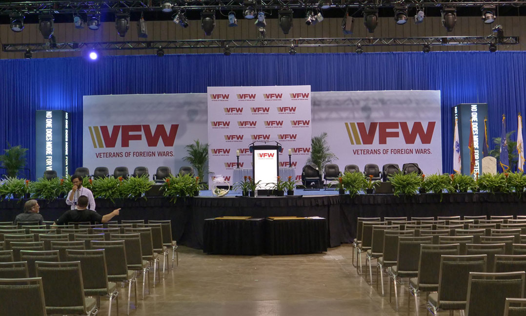 Empty VFW National Convention stage