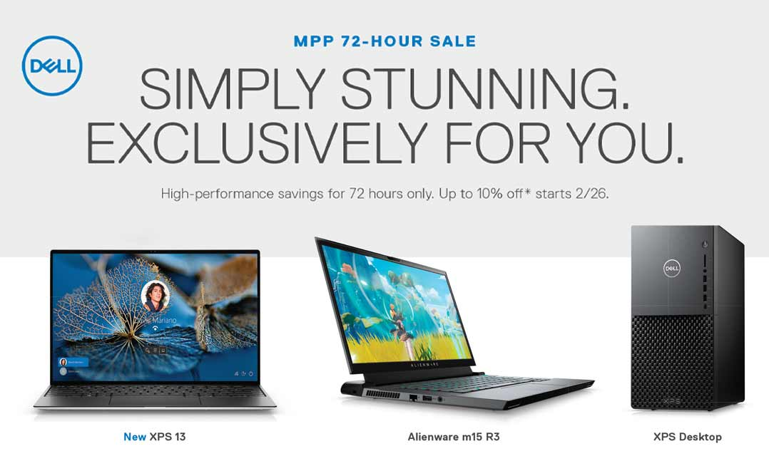 Dell member exclusive sale 2/26/21