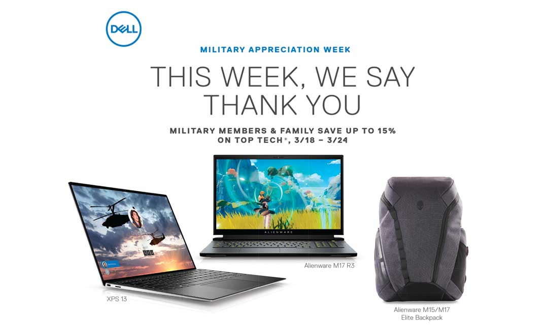 Shop Dell's Military Appreciation Week March 18-24, 2021