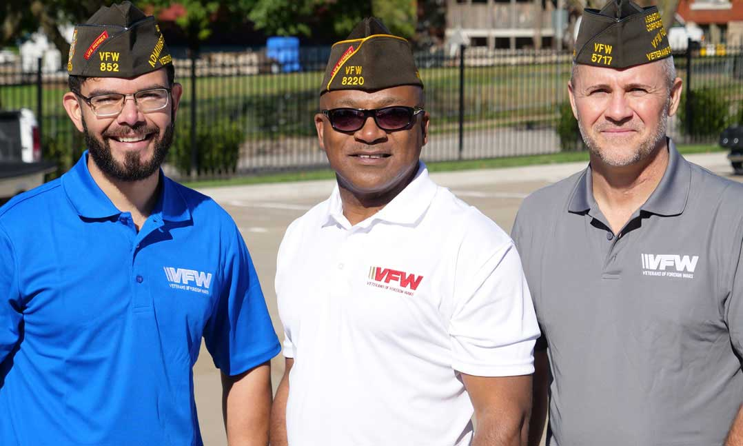 Three VFW members spending time together